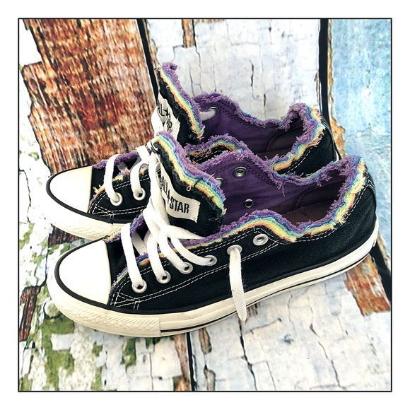 b8468422575922 Converse Shoes - RARE Converse All Star Rainbow Frayed Sneakers